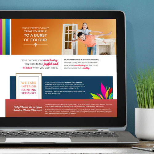 A Burst of Colour website
