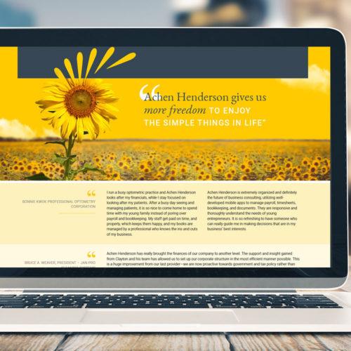 Achen Henderson website